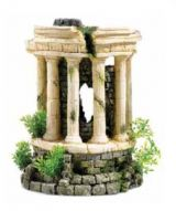 Classic Roman tower with plants and air 2780